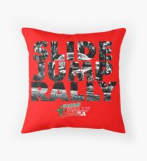Slide Jump Rally - Red Throw Pillow
