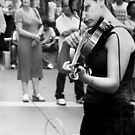 Violinist  by Andrew  Makowiecki