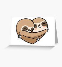 Sloth  Heart Greeting Card