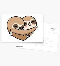 Sloth  Heart Postkarten