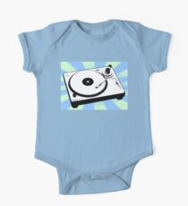 Retro Record Player by Chillee Wilson One Piece - Short Sleeve