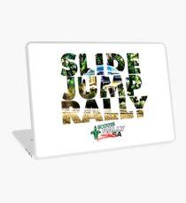 Slide Jump Rally - Colour/White Laptop Skin