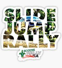 Slide Jump Rally - Colour/White Sticker
