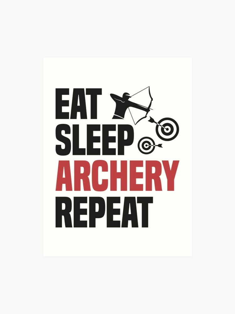 Eat Sleep Archery T Shirt Cool Funny Nerdy Graphic Image Archery