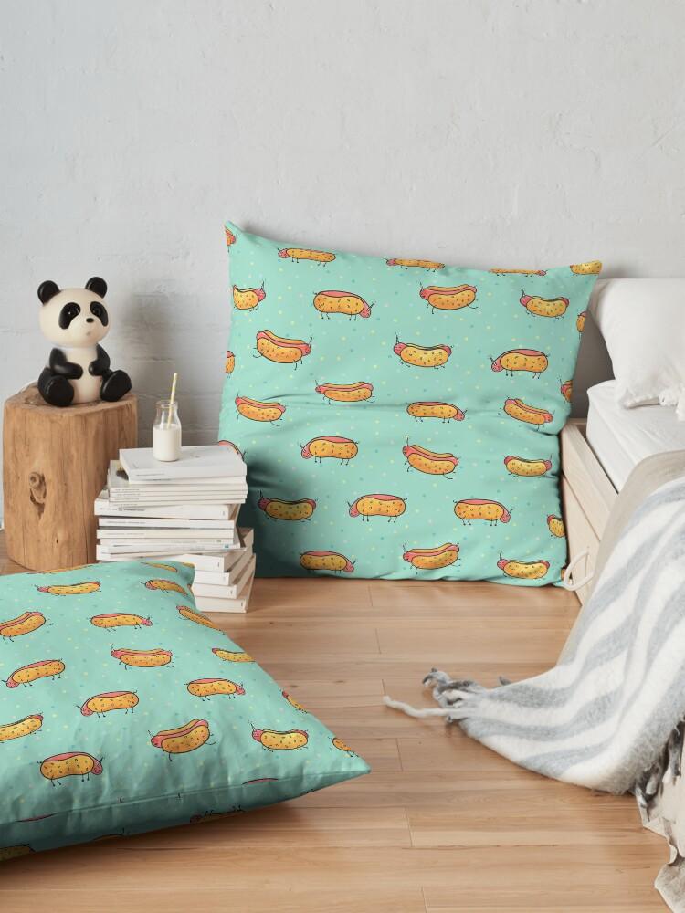 Alternate view of 'Corn Dogs Floor Pillow