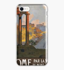 Rome Vintage Travel Poster Restored iPhone Case/Skin