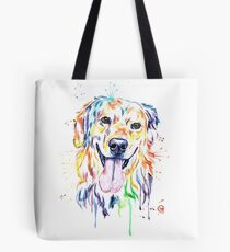 Golden Retriever Bunte Malerei Tote Bag