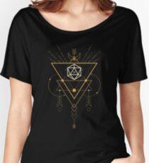 Camiseta ancha para mujer Dados Esotéricos de Curiosidad D20