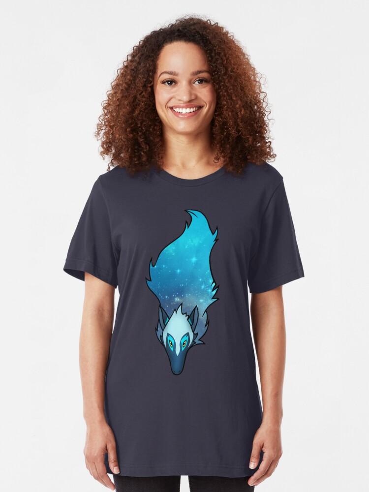Alternate view of Cosmic Wolf Slim Fit T-Shirt