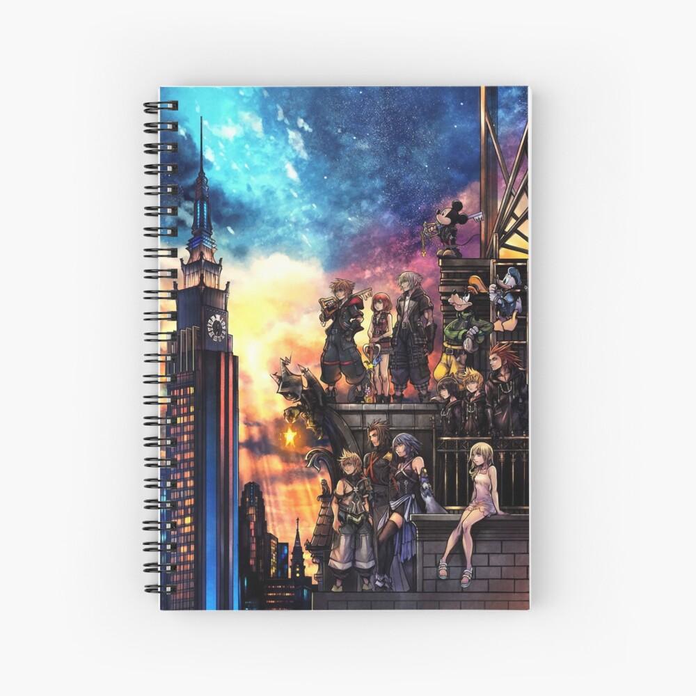 Portada de Kingdom Hearts 3 Cuaderno de espiral