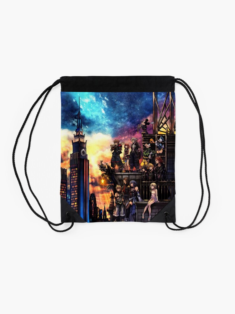 Alternate view of Kingdom Hearts 3 Cover Drawstring Bag