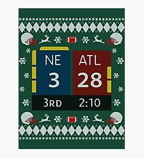 28-3 Historic Comeback New England Patriots Christmas Ugly Sweaters, Tom Brady - TB12 Shirts, Mugs, Phone Cases, Pillows & Greeting cards! Photographic Print