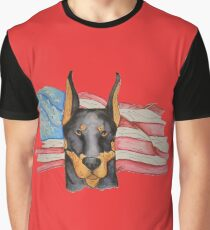 Camiseta gráfica Doberman americano
