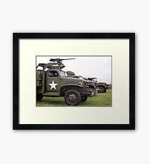 US Army Truck Framed Print