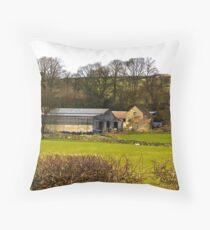 Yorks Moors Barn Throw Pillow