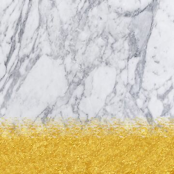 Marble and Gold | gold foil, gold, white marble by koovox