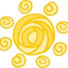 Yellow Lollipop Candy Sun by rewstudio