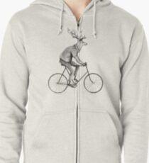 Even a Gentleman rides Zipped Hoodie