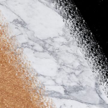Marble, Black and Rose Gold | Copper gold foil, Rose gold, white marble by koovox