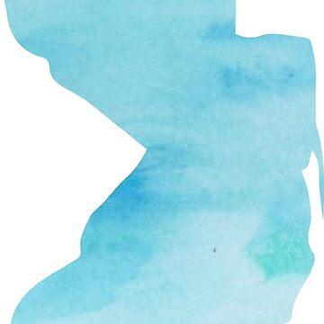 Estado de Nueva Jersey azul acuarela de emilystp23