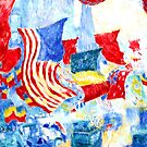 Flag Day, fine art painting by Theodore Butler by virginia50