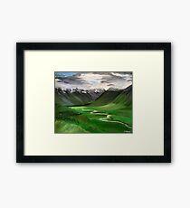 Iceland. 30 x 24 Acrylic Painting Framed Print