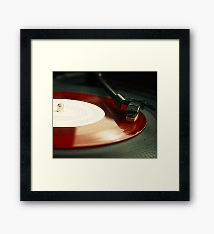 Red Record Framed Print