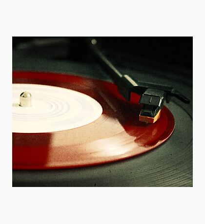 Red Record Photographic Print