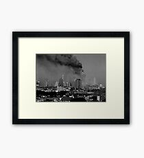 WORLD TRADE CENTER GOING DOWN Framed Print