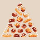 Bread Pyramid In Cream by Paigekotalik