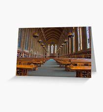 Suzzallo Library (University of Washington) (NON HDR version) Greeting Card