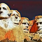 George, Thomas, Theodore, Abraham  by WhiteDove Studio kj gordon