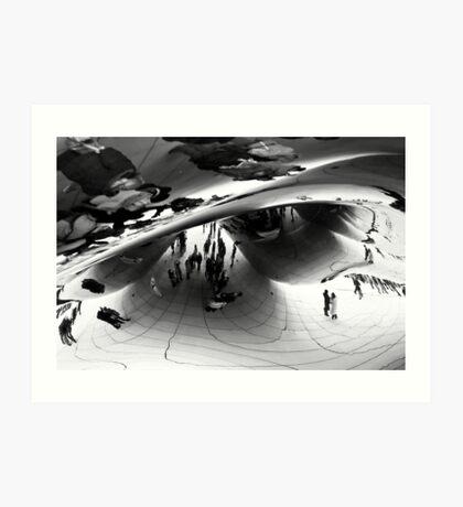 Cloud Gate Art Print
