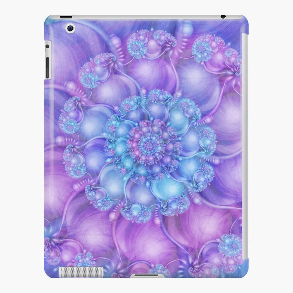 Cerulean Blue and Violet Purple Spiral iPad Case & Skin