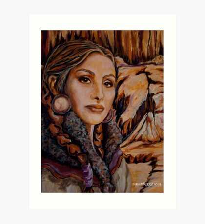 Sandstone ~ Wrapped in Tradition Series Art Print