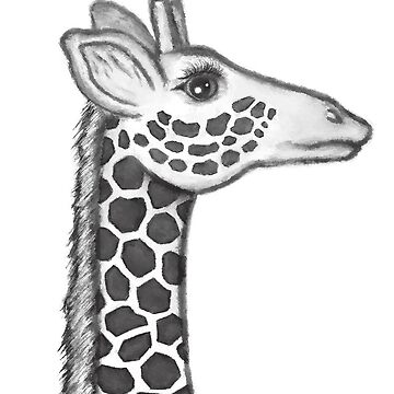 Girafe Head Monochrome by Sunflow