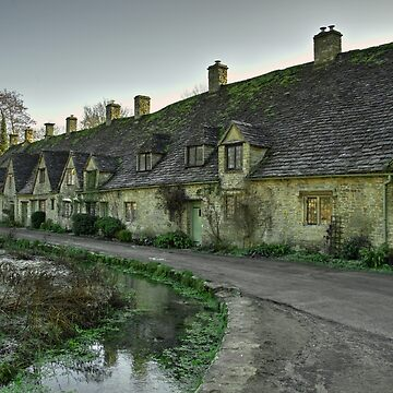 Winter at Bibury Almhouses by hawkie