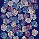 Painted Abstract Roses by BubbSnugg LC