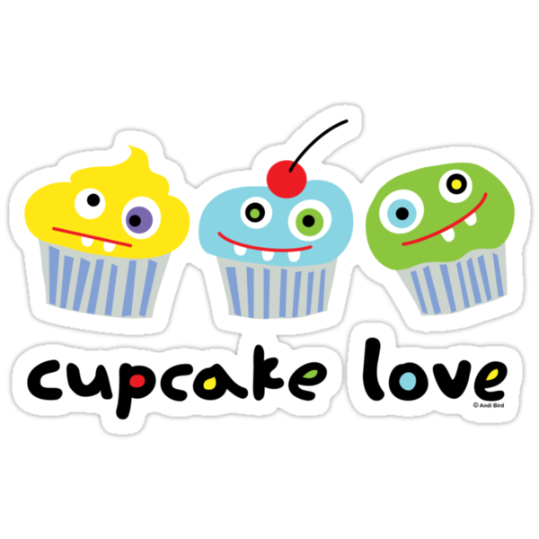 Cupcake Love ll by Andi Bird