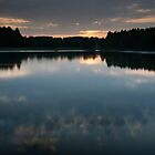 sunset, haddo loch by codaimages