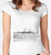 the pier  Women's Fitted Scoop T-Shirt