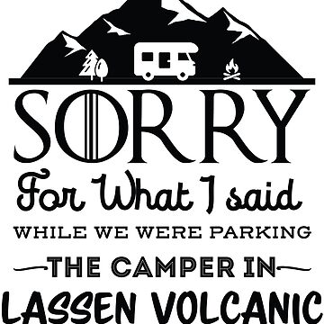 Lassen Volcanic National Park California Hiking Camping Gift by NationalParksCo