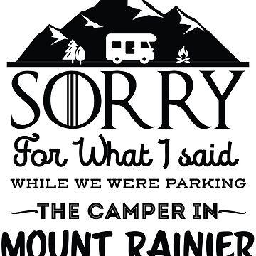 Mount Rainier National Park Washington Hiking Camping Gift by NationalParksCo