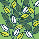 Modern Green Leaves by Annette Kraus