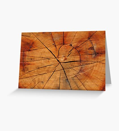 Tree Inter Section Greeting Card