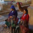 Women Selling in Cusco Peru by Elena Vazquez