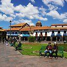 Blue Skies in Cusco by Elena Vazquez