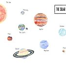 Solar System Sticker Set by Justine Lombardi