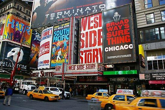 Times Square by Elena Vazquez