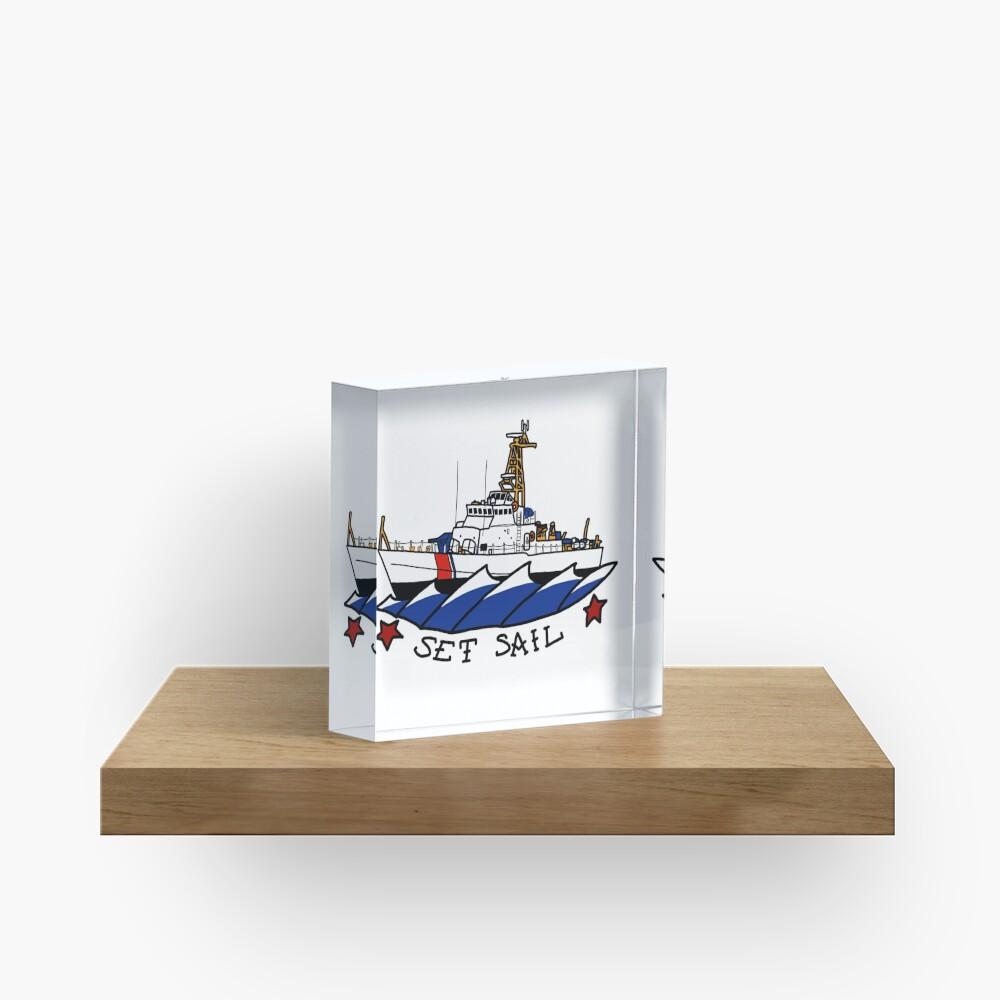 CG 110 Patrol Boat Set Sail Acrylic Block